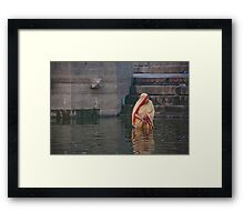 Lady Ganges Bather Framed Print
