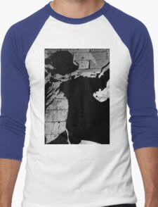 Black and white abstract Men's Baseball ¾ T-Shirt