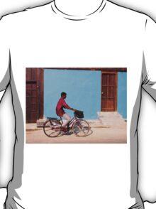 Cyclist in Kochi, India T-Shirt