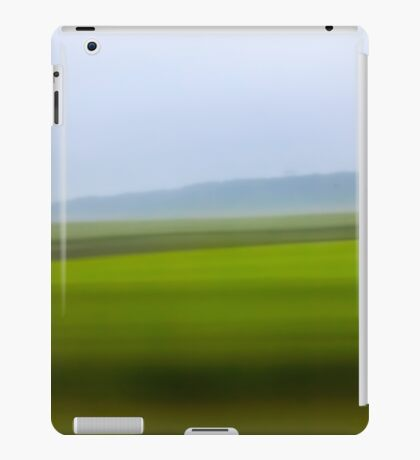 Motion blurred green landscape abstract iPad Case/Skin