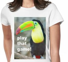 TOUCAN PLAY THAT GAME Womens Fitted T-Shirt