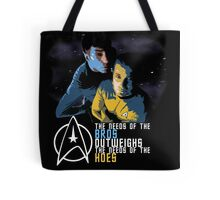 Kirk and Spock Tote Bag