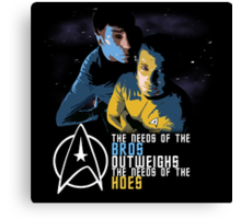 Kirk and Spock Canvas Print