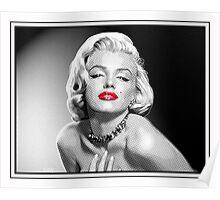 Love, Marilyn -  Black, White & Red Poster