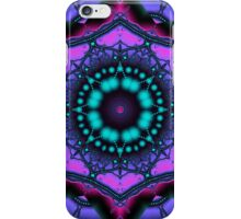Kaleidoscope abstract in purple, pink and turquoise iPhone Case/Skin