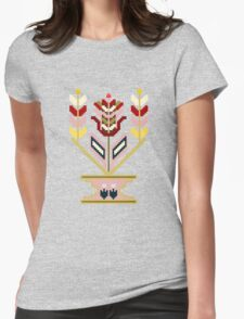 Flower pot, traditional mosaic expression. Womens Fitted T-Shirt