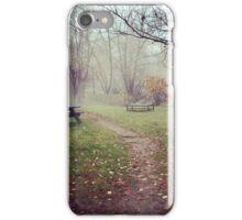 Brickyard Pond in Autumn iPhone Case/Skin