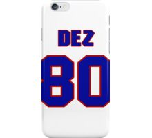 National football player Dez White jersey 80 iPhone Case/Skin