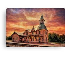Point Of Rocks Train Station Canvas Print