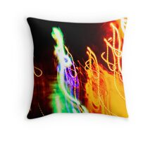 Colourful Squiggles Throw Pillow