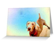 who? me? Greeting Card