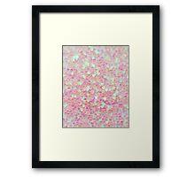 Shiny Hearts Framed Print