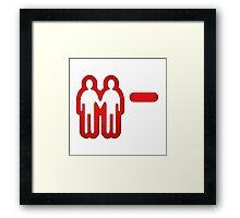 Negative relationship points. Framed Print