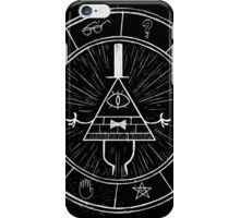 Gravity Falls Bill Cipher - White on Black iPhone Case/Skin