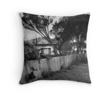 the side fence Throw Pillow