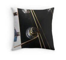 Keys, knobs and strings Throw Pillow