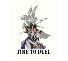 Time to duel! Art Print