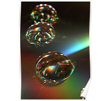 day 29: glycerine drops on cd abstract Poster