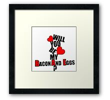 Will you be my BAE? Framed Print