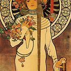 'La Trappistine' by Alphonse Mucha (Reproduction) by Roz Abellera Art Gallery