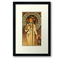 'La Trappistine' by Alphonse Mucha (Reproduction) Framed Print