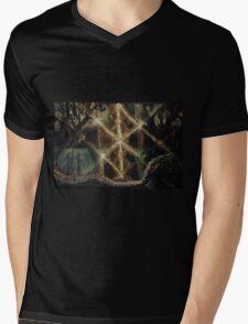 Iwaz in the Yggdrasil with Jormungand Mens V-Neck T-Shirt