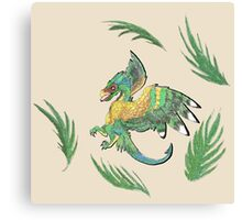 """""""Ancient Wings"""" Quetzalcoatl Feathered Dragon Canvas Print"""
