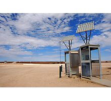 Solar powered phoneboxes outback Photographic Print