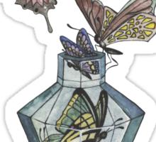 Butterfly bottle Sticker