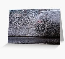 H2O wall... City under water Greeting Card