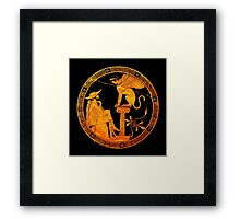 Man and Sphinx Framed Print