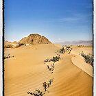 Tibet sky burial site and sand dunes by derek blackham