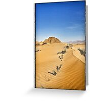 Tibet sky burial site and sand dunes Greeting Card