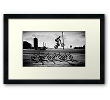 Game Photography - BMX Jump Framed Print