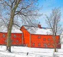 Red In Winter II by Deborah  Benoit