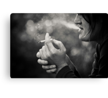 not about smoking... Canvas Print