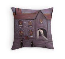 Old courtyard Throw Pillow