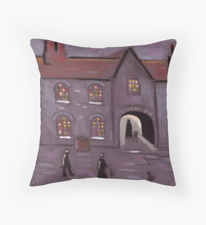 Old courtyard Throw Pillow