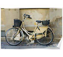 Yellow Bicycle in Copenhagen, Denmark Poster