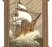 Dipper's Clipper Ship Picture (framed) by The-Sqoou