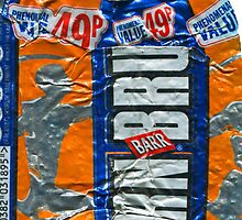 IrnBru - crushed tin by Jovan Djordjevic