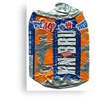 IrnBru - crushed tin Canvas Print
