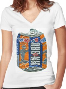 IrnBru - crushed tin Women's Fitted V-Neck T-Shirt