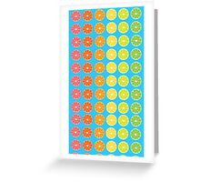 Citrus Rainbow  Greeting Card