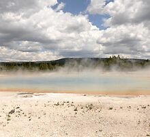 The Rainbow Pool, Yellowstone National Park by Rekha Varghese