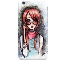 Nerdy ginger girl iPhone Case/Skin