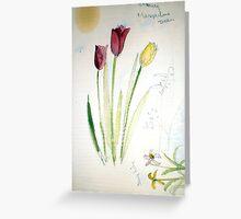flower sketching Greeting Card