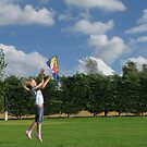 Girl With Kite by Mike Paget