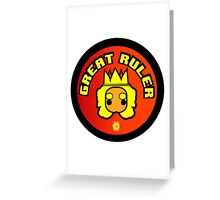 Great Ruler (Orange) Greeting Card