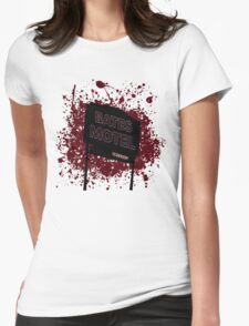Bates Motel - Alfred Hitchcock Womens Fitted T-Shirt